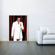 Elvis Presley, Decorative Arts, Prints & Posters, Wall Art Print, Poster 50x70cm - Black White Red Poster